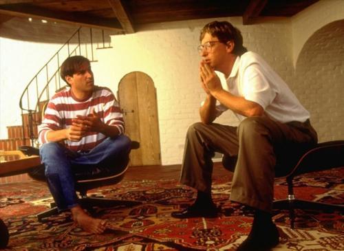 Стив Джобс и Билл Гейтс, 1991.