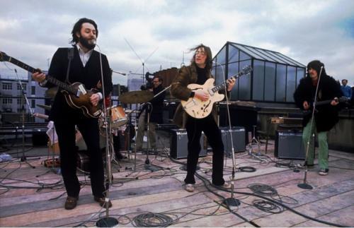 Последний концерт The Beatles на крыше в Лондоне, 1969.