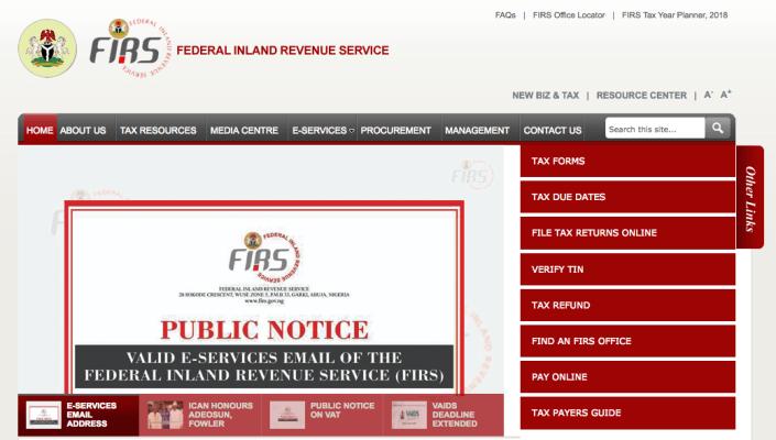 FIRS recruitment portal