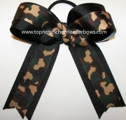 camouflage cheer bow green camo