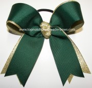 green gold ponytail holder bow