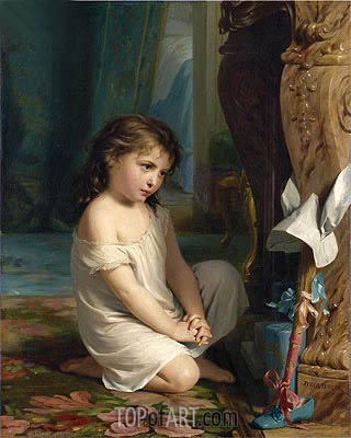 Penitence - Fritz Zuber-Buhler - Painting Reproduction