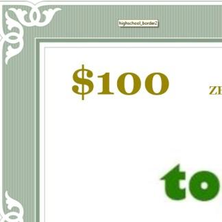 $100 Zero-Coupon 180-day Bond