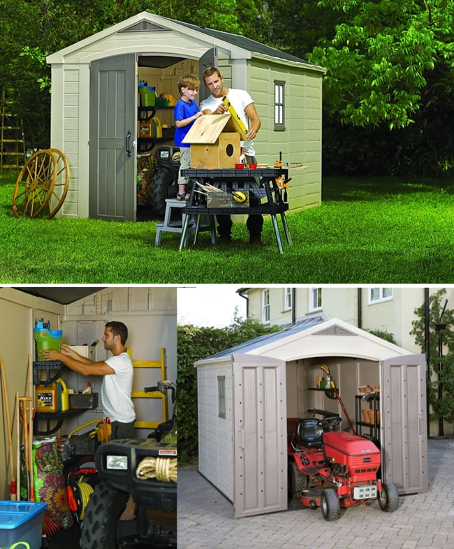 Best Outdoor Storage Sheds On The Market - Keter Factor Large Resin Storage Shed, 8x11ft