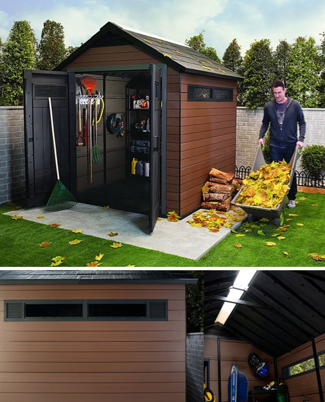 Best Storage Sheds On The Market - Keter Fusion Large Plastic Wood Composite Storage Shed