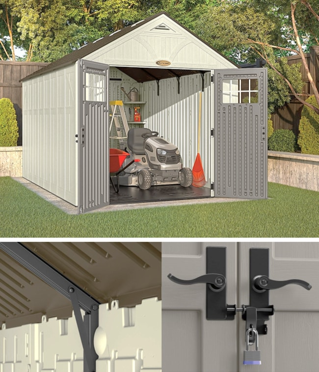 Best Storage Sheds On The Market - Suncast BMS8130 Tremont Resin Storage Shed