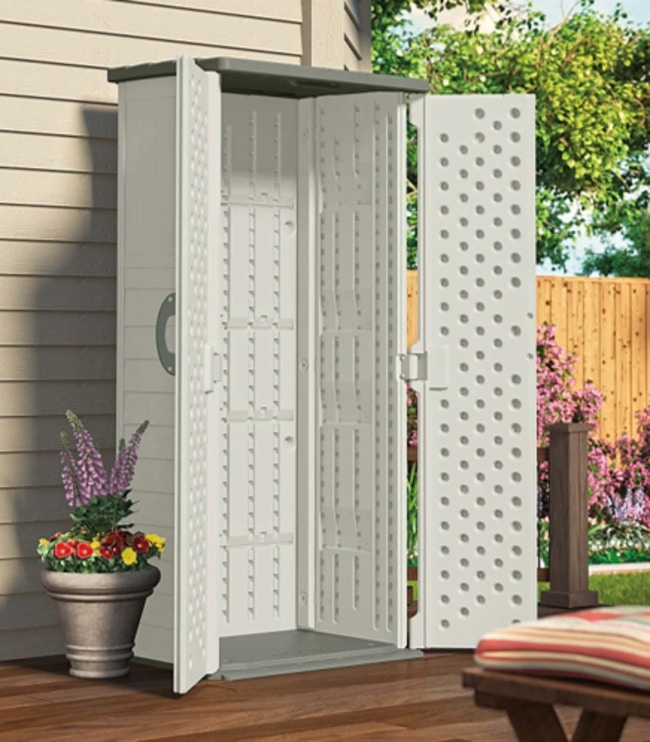 Suncast BMS1250 Vertical Tool Shed For Your Backyard