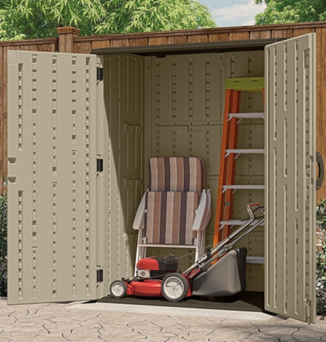 Suncast BMS5700 Vertical Storage Shed For Your Backyard
