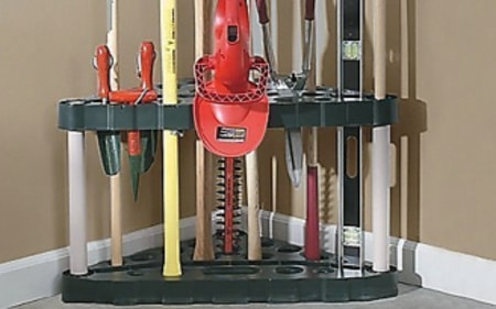 Rubbermaid 30-Tool Corner Tool Rack For Outdoor Storage Sheds