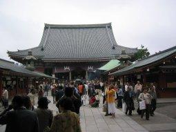 Asakusa's famous Senso-ji - a Buddhist temple
