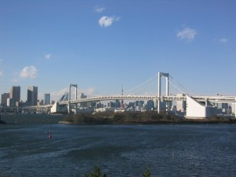 View of Minato, from the Yurikamone line as it approaches Odaiba