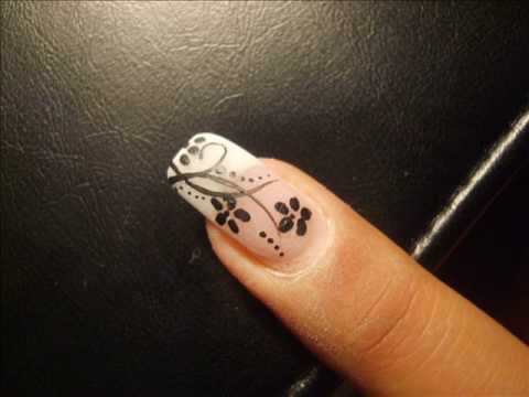 Nail Art Design Flowers Step By