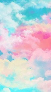 Mobile wallpaper with watercolor sky | F