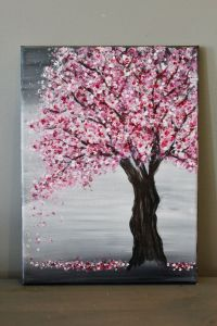 Painting a Cherry Blossom Tree with Acry