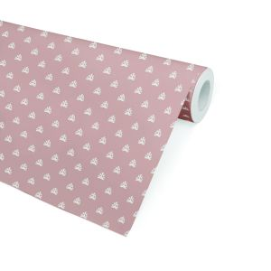 BOREY BLUSH Peel and Stick Wallpaper By
