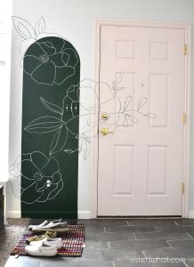 How to Paint a Floral Mural with a