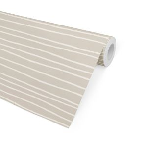 LINEAR BEIGE Peel and Stick Wallpaper By
