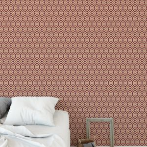 PORTLAND RED Peel and Stick Wallpaper By