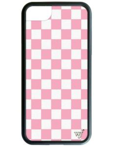 Pink Checkers iPhone Case - iPhone 6, 7,