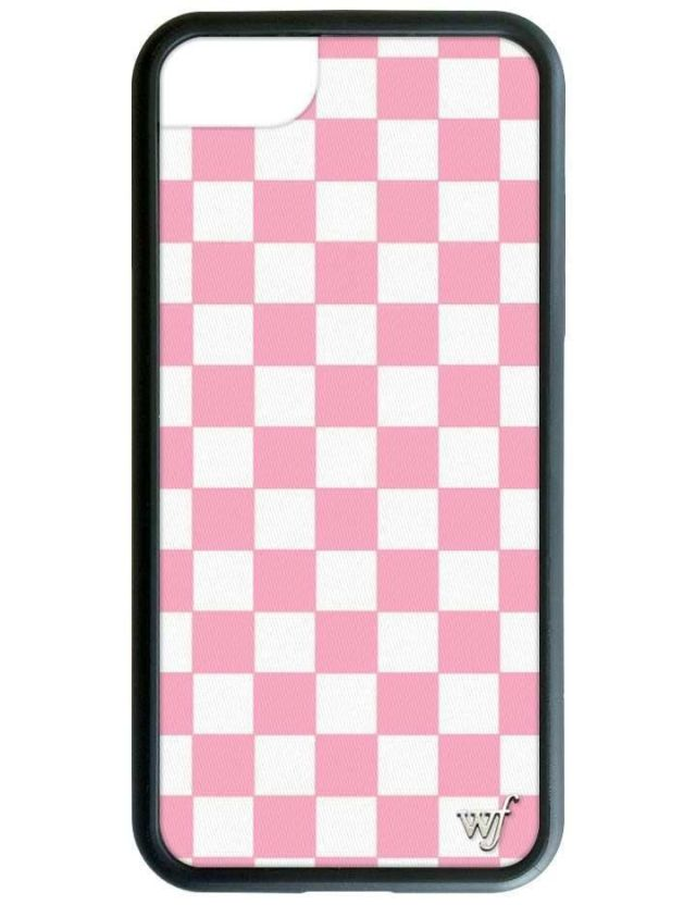 Pink Checkers iPhone Case - iPhone 6, 6s, 7