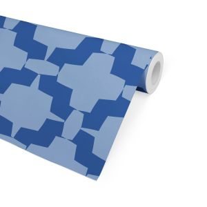 STEPHON BLUE Peel and Stick Wallpaper By