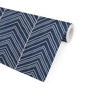 STRAND NAVY Peel and Stick Wallpaper By