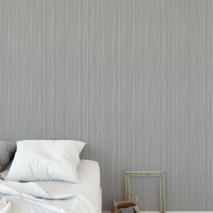 STRINGS GREY Peel and Stick Wallpaper By