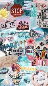 Summer Break Collage Poster by