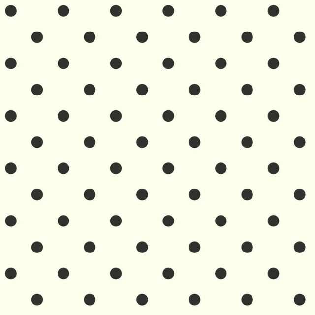 Dots on Dots Removable Wallpaper, 20.5 in. x 33 ft. = 56 sq.ft, in white/black