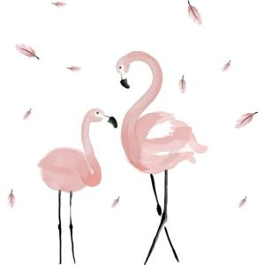 Pink Flamingo Wall Stickers