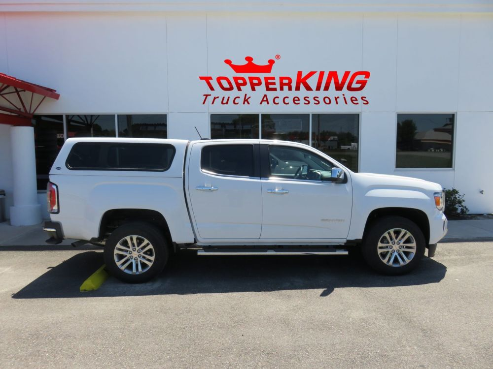 medium resolution of gmc canyon ranch echo fiberglass topper from topperking by topperking in brandon fl 813