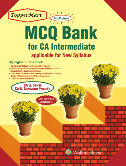 CCH MCQ Bank for CA Intermediate New Syllabus By G. Sekar
