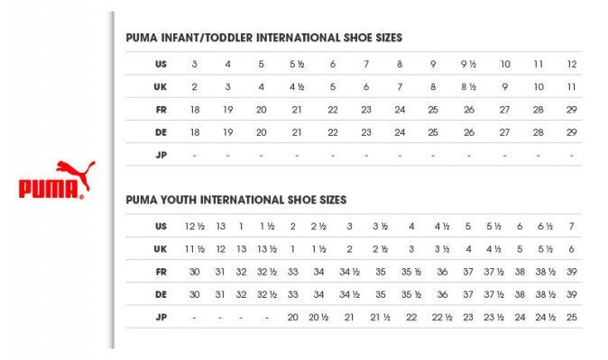 Puma size chart sale up to 73 discounts