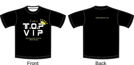 BIGBANG/T.O.P. SUPPORT SHIRT FOR #BBALIVEPH