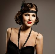 costume 1920s flapper girl dark