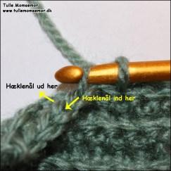 Bagerste maskeled - hækles for at skabe en rib