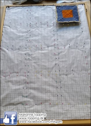 Hæklet tæppe - opsætning af blokker