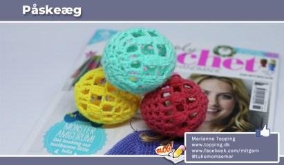 """Hæklede påskeæg, hækleopskrift fra bladet """"Simply Crochet"""""""
