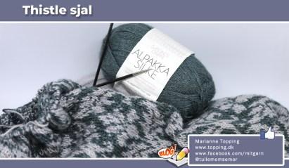 """Strikket """"Thistle"""" sjal fra designeren Pinneguri"""