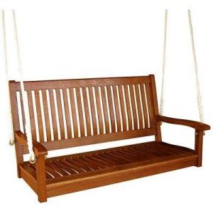 ICI Royal Tahiti Yellow Balau Hardwood Straight-back Two-Seater Swing