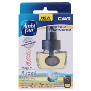 Ambi Pur Fresh & Cool Scent Refill Perfume Conditioning Car Air Freshener 7ml.