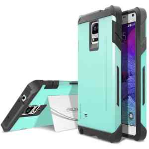 Galaxy Note 4 Case, OBLIQ [Skyline Pro][Mint] - [Kickstand Feature] Dual Layered Maximum Protection from Drops & Scratches - Best Sa