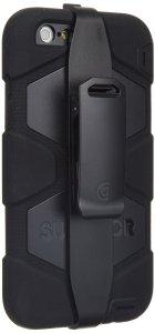 Griffin BlackBlack Survivor All-Terrain Case + Belt Clip for iPhone 66s Plus