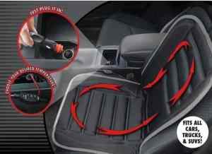 Hot Headz Geared Up Polar Ex Heated Car Cushion, Black, One Size