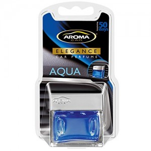 Majic Elegance Car Perfume Gel Auto and Home AC Vent Clip Air Freshener, Aqua