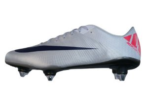 Nike Mercurial Vapor Superfly III SG Mens soccer Boots Cleats - White Silver