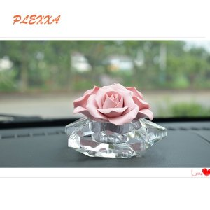 PLEXXA(TM) Fashion Flower shapes Crystal Car Perfume High Grade Fragrance Car Creative Crystal Perfume Seat Perfume Bottles Car