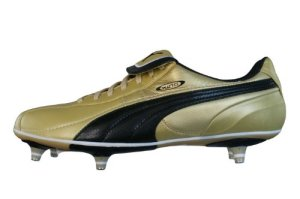 Puma King XL SG Mens Leather soccer Boots Cleats - Gold