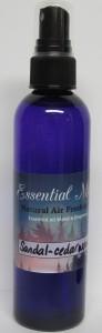 Sandal - Cedar Wood Natural Air Freshener made with Essential Oils - 4oz