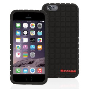 Snugg iPhone 6 6s Plus Silicone Case in Black - Non-Slip Material, Protective and Soft to Touch for the Apple iPhone 6 Plus